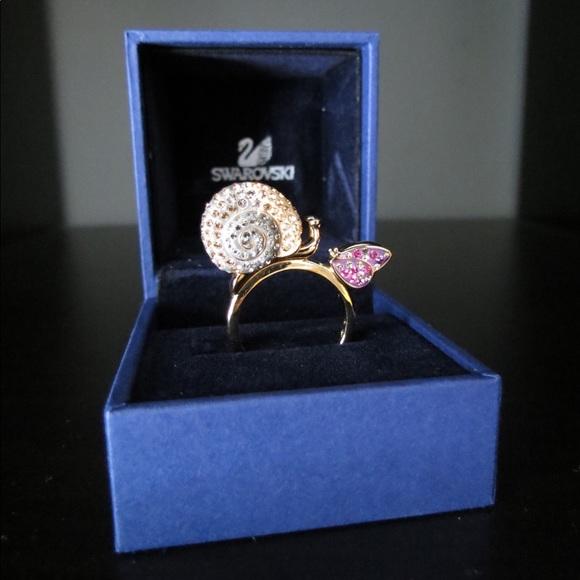 47b770ef5 Swarovski Jewelry | Snail And Butterfly Ring | Poshmark